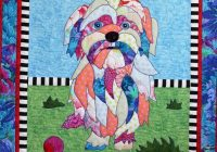 bj designs patterns lulu the dog applique quilt pattern Interesting Dog Applique Quilt Patterns Gallery