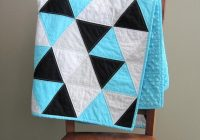 blue triangle ba quilt topaz blue black and white ba blanket ba boy quilt modern blue ba triangle quilt Interesting Triangle Baby Quilt Inspirations