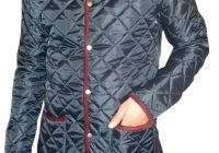 bosworth quilted jacket navy with burgundy cord trims Cool Barbour Vintage Quilted Jacket With Cord Collar And Trims