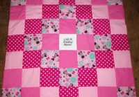 brand new handmade minnie mouse ba quilt embroidered name added free Elegant Minnie Mouse Baby Quilt