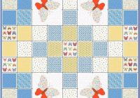 bunnies and butterfliesprecut quilt kitlittle boy or ba 10   Stylish Baby Quilt Kits Joann Fabrics Inspirations