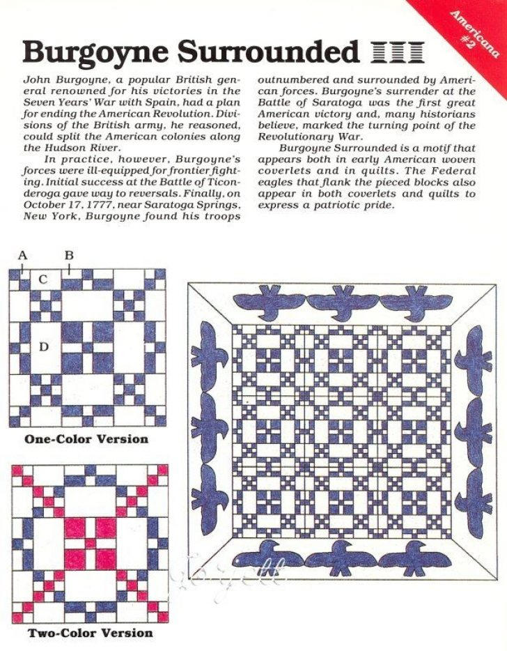 Permalink to Interesting Burgoyne Surrounded Quilt Pattern