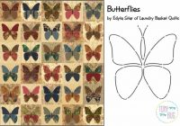 butterflies quilt pattern laundry basket quilts edyta sitar applique lbq 0472p Interesting Butterfly Applique Quilt Pattern Gallery