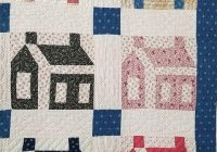 c1880 antique school house quilt schoolhouse best fabrics Interesting Schoolhouse Quilt Pattern Inspirations