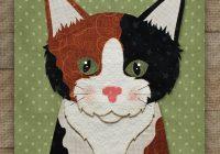 calico cat precut fused applique kit Elegant Cat Applique Quilt Patterns
