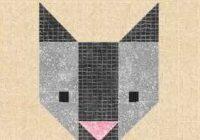 cat quilt block pattern pdf instant download modern patchwork pet animal cute kitten Cool Patchwork Cat Quilt Block Patterns Gallery