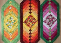 chevron table runner bluprint Modern Quilted Table Runner Patterns Gallery
