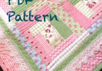 chic ba girl quilt pattern log cabin quilt pattern modern ba quilt pattern ba quilt pattern pdf pattern quilt Stylish Baby Girl Quilt Patterns Gallery