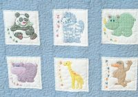 childrens zoo nursery quilt squares embroidery kit Interesting Jack Dempsey Needle Art Baby Quilts