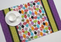 christmas ornament quilted placemats modern prints set of 4 Stylish Modern Quilted Placemat