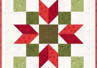 christmas poinsettia 11 quilt block pattern pdf instant download modern patchwork holiday festive Modern Poinsettia Quilt Block Pattern Gallery