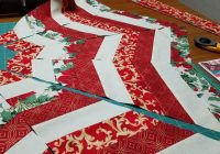 christmas tree skirt quilted bluprint Elegant Quilted Tree Skirt Patterns Inspirations