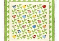chub chicks download pdf pattern quilt pinwheel Cozy Chubby Chicks Quilt Pattern