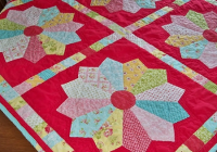 chunky dresden plate blocks are simple to make quilting digest Cozy Dresden Plate Quilt Block Pattern