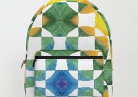 circular logic water color geometric pattern quilted look backpack brandnamenerd Cozy Quilted Backpack Pattern Gallery