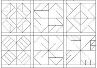 coloring pages quilt blocks 09 my faves barn quilt Modern Quilt Pattern Coloring Pages Inspirations