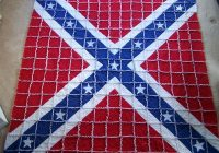 confederate battle flag rag quilt 54×565 hand made smoke Unique Confederate Flag Quilt Pattern