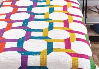 contemporary wedding ring quilt pattern 11   Wedding Quilt Patterns