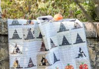 Cool 9 frightfully fun halloween quilt patterns the polka dot chair 11 Modern Halloween Quilts Patterns