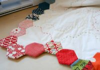 Cool badskirt finishing your hexagon quilts tutorial hexagon 11 Modern Tips On Sewing Hexagon Quilts Gallery