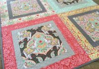 Cool big print ba quilt free quilt pattern 9 Stylish Quilt Patterns For Large Prints Gallery
