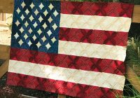 Cool cathedral window flag quilt pattern Modern American Flag Quilt Pattern