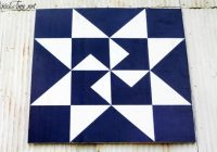 Cool diy barn quilt via knickoftime 10   Quilt Patterns For Barns Gallery