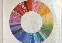 Cool elastic corners and sewing hexagons Color Wheel Quilt Pattern
