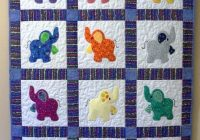 Cool elephant treasures handmade quilt elephant quilt ba 11 Stylish Cot Patchwork Quilt Patterns
