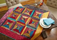 Cool free table topper patterns allpeoplequilt 10   Quilted Tablecloth Patterns Gallery