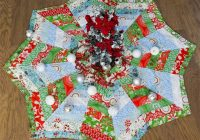 Cool how to make a christmas tree skirt youll love the 11 Elegant Tree Skirt Quilt Patterns Inspirations