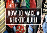Cool how to make a necktie quilt crafty house 11 Elegant Necktie Quilt Ideas Inspirations
