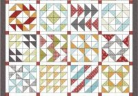 Cool layer cake sampler qal triangle quilt quilt layers half 10 Unique Free Half Square Triangle Quilt Block Patterns Inspirations