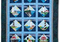 Cool lighthouses quilt kit includes pre cut pre fused appliqus 9 Cool Lighthouse Quilt Patterns Gallery