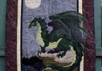 Cool majestic dragon 24×36 wall hanging dark green with 9 Modern Dragon Quilt Patterns Inspirations