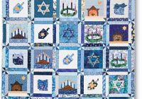 Cool pattern one happy family jewish wall hanging quilting daily 9 Beautiful Quilt Patterns For Wall Hangings