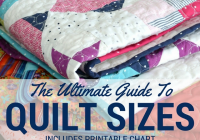 Cool quilt size chart the ultimate quilters guide the sewing loft Cozy King Size Patchwork Quilt Pattern