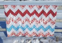 Cool rag quilt chevron style hope corner farm 9 Cool Chevron Rag Quilt Pattern Inspirations