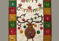 Cool reindeer advent calendar quilt pattern quilted advent 9 Cool Quilted Advent Calendar Pattern Inspirations