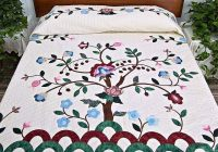 Cool rose blue and green tree of life appliqu quilt quilts 10 Unique Tree Of Life Quilt Pattern Applique Gallery