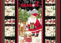 Cool santa and friends panel quilt kit christmas quilts panel 11 Unique Christmas Quilt Ideas Gallery