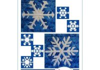 Cool snowflake sampler set 2 quilt block patterns foundation paper piecing 11 Beautiful Snowflake Quilt Block Pattern