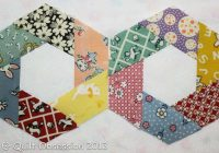 Cool stitching a twisted hexagon lots of photos quilt obsession 11 Unique Half Hexagon Quilt Pattern Gallery
