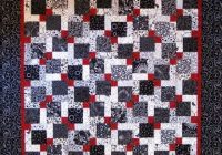 Cool this is a black white and red disappearing 9 patch quilt i 11 Cool Hidden Nine Patch Quilt Pattern