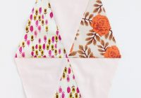 Cool triangle quilt pattern update how to get sharp triangles Elegant Triangle Quilt Template
