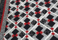 Cool twin size quilt pattern red black and white quilt disappearing 9 patch quilt pattern New Black And White Quilt Patterns