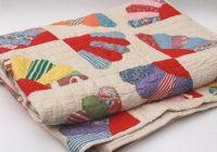 Cool vintage hand stitched quilt cotton prints feedsack fabric 9 Stylish Vintage Hand Stitched Quilts