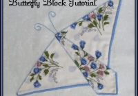 Cool vintage hankie butterfly block quilt pattern tutorial from 9 Unique Handkerchief Quilt Pattern Inspirations