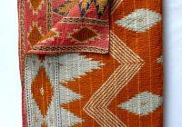 Cool vintage kantha quilt throw in burnt orange vintage kantha 9 Stylish Vintage Kantha Quilts Gallery