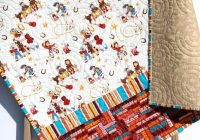 cowboy bedding western quilt gender neutral blanket horseshoes boots roping saddle boy or girl crib quilt retro vintage looking gift Interesting Vintage Cowboy Quilt Gallery